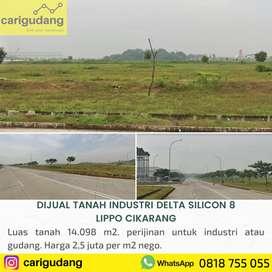 jual tanah untuk industri atau gudang delta silicon 8 lippo cikarang