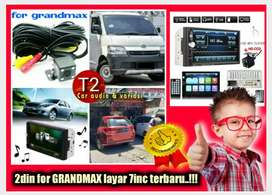 Open minggu 2din for GRANDMAX android link led 7inc +camera hd mantul