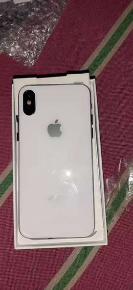 Apple i phone 10 s 256 GB white color all accessories