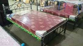 Metal cot& Mattress brand new own manufacturing factory with mattress