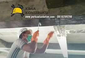 Aplikator perkuatan perbaikan beton Carbon fiber FRP, eglass, injeksi