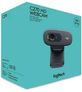 1 month old unused Logitech C270 HD webcam with bill, box & warranty