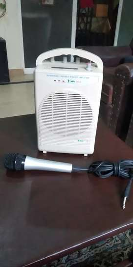 Chargeable sound system with mic.