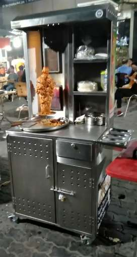 Shawarma trolly (full cabinet) and table top