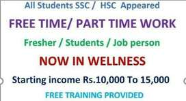 Part time work for matric and fsc level students