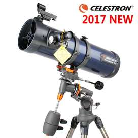 Celestron AstroMaster 130 EQ Motor Drive Telescope (Blue); with Motor