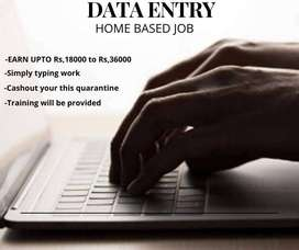 Part Time Data Entry Home Based Job