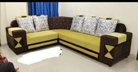 L shape sofa point designer dupatta