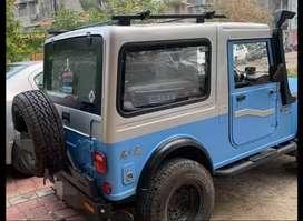 Blue stylish jeep