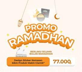 PROMO RAMADHAN! Design Sticker Kemasan MURAH!