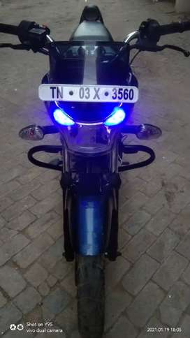 Bajaj V15 White with Blue Color