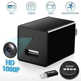 Online Store 1080P HD WiFi Streaming Mini USB Wall Charger Hidden Spy