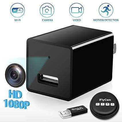 Online Store 1080P HD WiFi Streaming Mini USB Wall Charger Hidden Spy 0