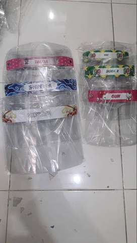 face shield all motif / face shield termurah
