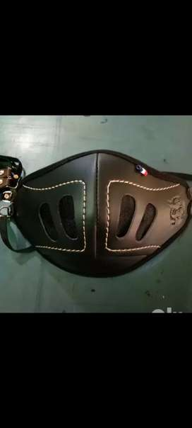 Leather bikers mask