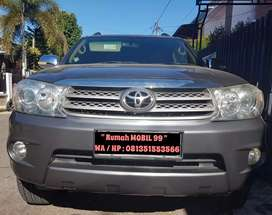 Toyota Fortuner G Lux A/T th 2009 plat KB, Eks Pemakaian Perempuan