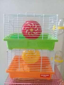 Paket Hamster Syrian 2ekor Plus Kandang fullsett