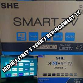 1920X1080 FHD & 3840X2160 4K android LED TV'S with 5 Years warranty