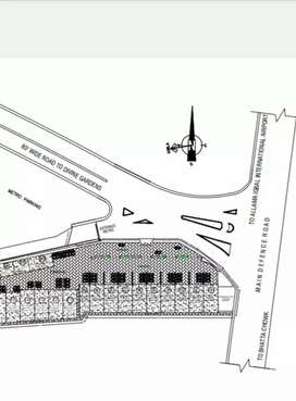 8 Marla Commercial Plot on Airport Road Lahore cantt Ideal Location.