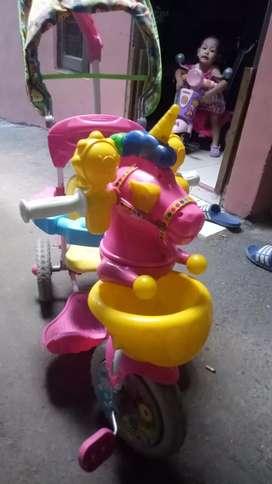 Sepeda roda 3 pink