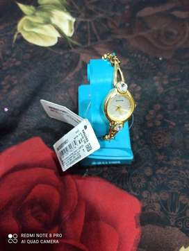 Sonata Golden Dial Analog Watch for Women
