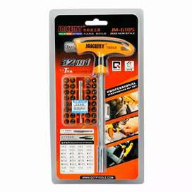 HS Kunci T set Jakemy 32 in 1 T-Handle Screwdriver Set - JM-6105