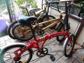 Sepeda Bmx 2 unit + Sepeda Lipat 1 unit