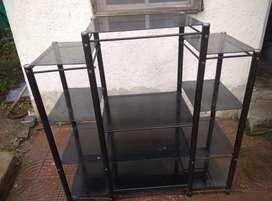 Glass and iron Multipurpose Rack