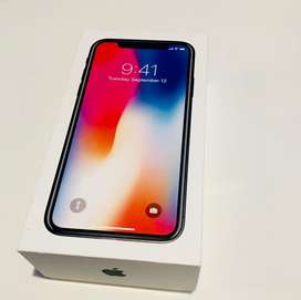 Dijual cepat Iphone X 64 gb full set original 100%