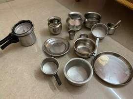 Steel and alluminium utensils