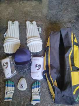 Full sg cricket kit with bag but without