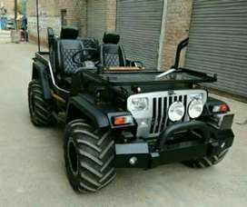 Silver paint front Open jeep