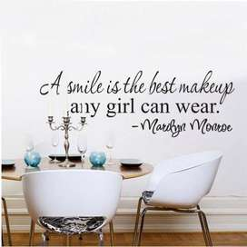 Marilyn Monroe Words A Smile Is The Best Makeup Any Girl Can Wear Wall