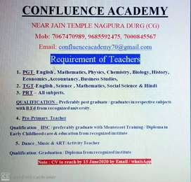 Requriment of Teacher