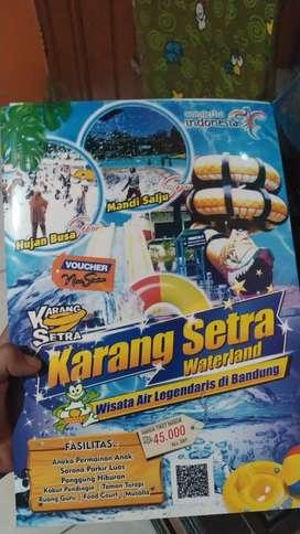 Booklet voucher karang setra bandung