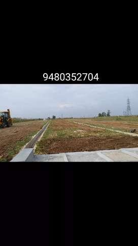 Near Uduru ring road 59×42 plot corner  east facing 60feet road