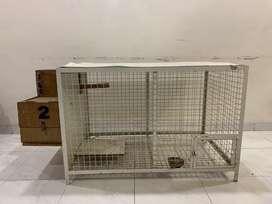 Bird cage with breeding box.