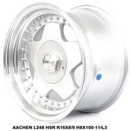 velg hsr aachen ring 16x8-9 pcd 4x100-4x114,3