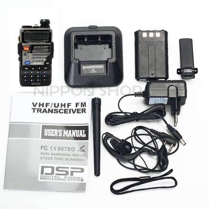 HT Handy Talky UV 5RE PLUS lebih bagus dari UV-5R radio baofeng UV5R - 0