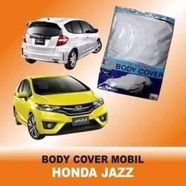 Selimut , sarung , jas , cover , mantel mobil jazz silver polos