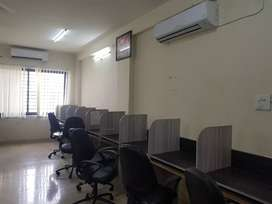 30 seater with 2 cabin 2 ac fully furnished office available on lease