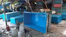kolam ikan fiber atau produksi kolam fiberglass