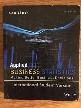 Applied Business Statistics, 7ed, ISV by Ken Black