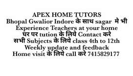 Home tutors required