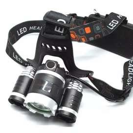 TaffLED Power Headlamp 3 LED 5000 Lumens Cree XM-L - T6 HD-LD