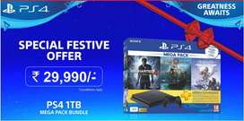 ps4 500 gb now from 25500 heavy discounts ON ALL MODELS EASY EMI AVLBL