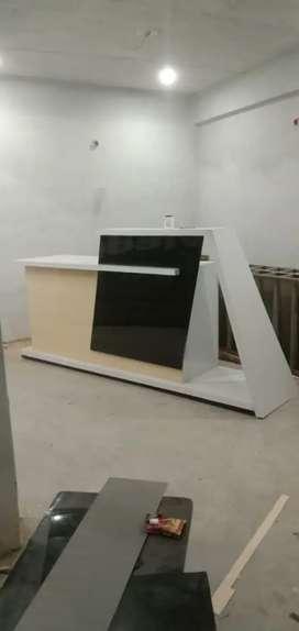 8 feet reception counter with locker
