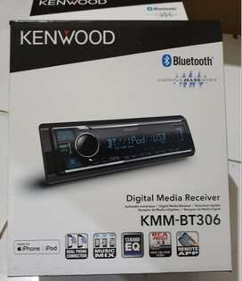 Kenwood KMM-BT306 FLAC Time Alignment 3xRCA Audio Pre-Outs Single Din