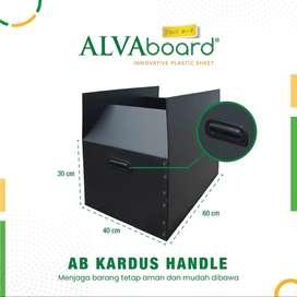 ALVAboard kardus plastik dengan handle 60x40x30 CM (HITAM)