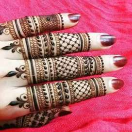 Mehendi design done here